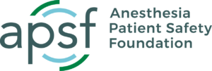 APSF Anesthesia Patient Safety Foundation Logo Full