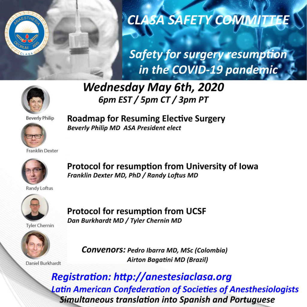 CLASA Webinar: Safety for Surgery Resumption in the COVID-19 Pandemic