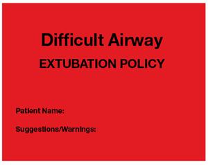 Difficult Airway sticker