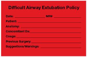 Difficult Airway Documentation