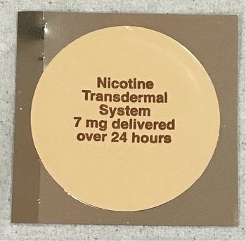 Transdermal nicotine patch