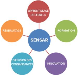 Figure 1 : Stratégie multimodale de SENSAR développée en 2013 (5 ans après sa fondation)