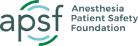 Anesthesia Patient Safety Foundation Logo
