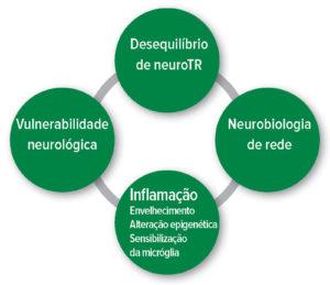 Figura 1: Hipóteses fisiopatológicas do delírio pós-operatório. Desequilíbrio Neurotransmissor.