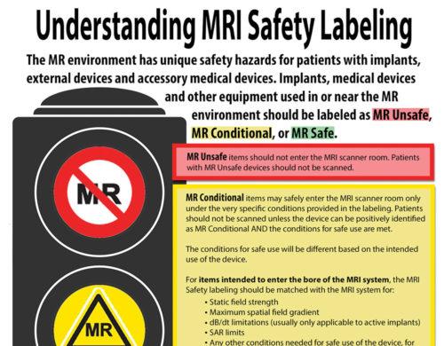Understanding MRI Safety Labeling