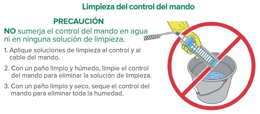 Figura 1: Limpieza del control del mando.