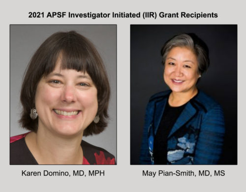 2021 APSF Investigator Initiated (IIR) Grant Recipients
