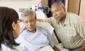 Paciente en el hospital
