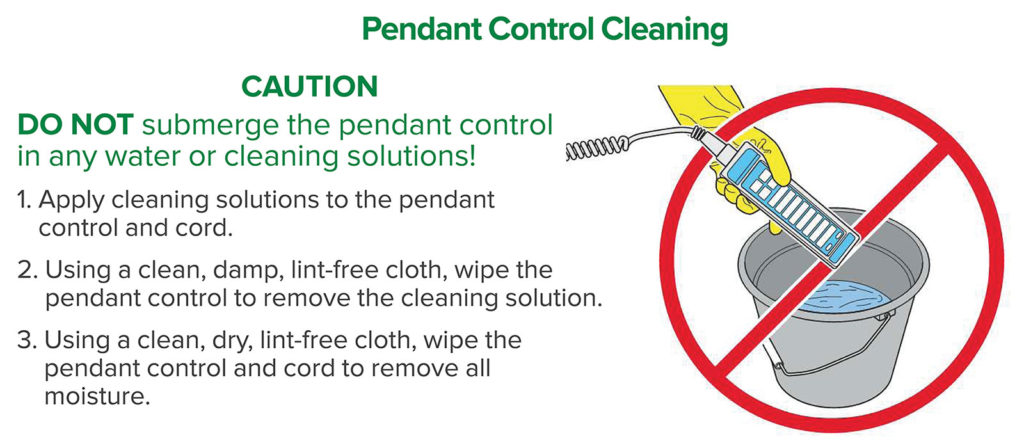 Figure 1: Pendant Control Cleaning.
