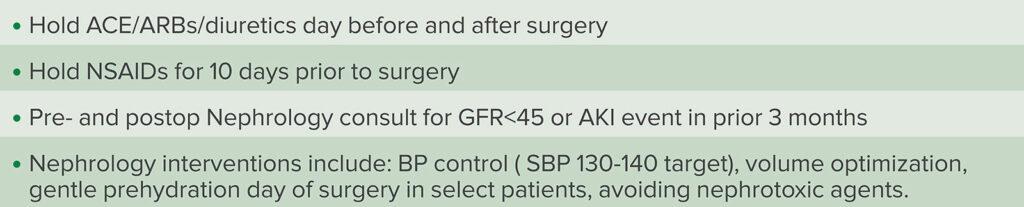 Table 1: Surgical Optimization Center AKI Risk Evaluation