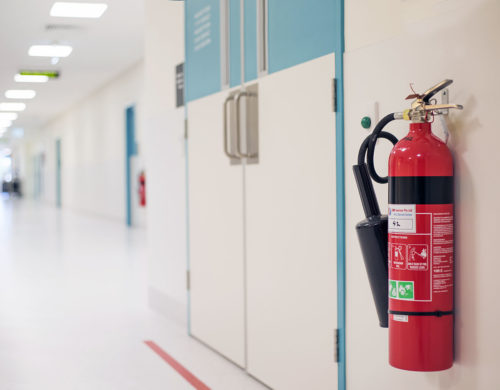 Fire Extinguisher in Operating Room
