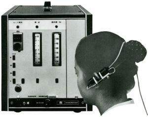 Figure 2. The world's first pulse oximeter (ear oximeter OLV-5100)