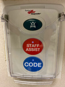 Figure 2. Staff Assist and Code buttons in CT suite.